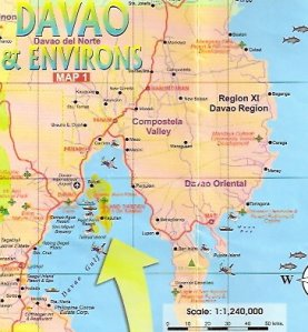 The sheltered Davao Gulf
