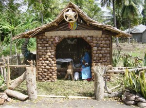 Nativity at Clado, Lupon - made entirely from coconuts