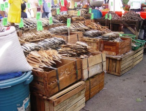 Lupon outdoor market - dried fish