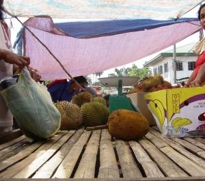 Lupon market - Durian, Marang (unique to Mindanao), and Rambutan