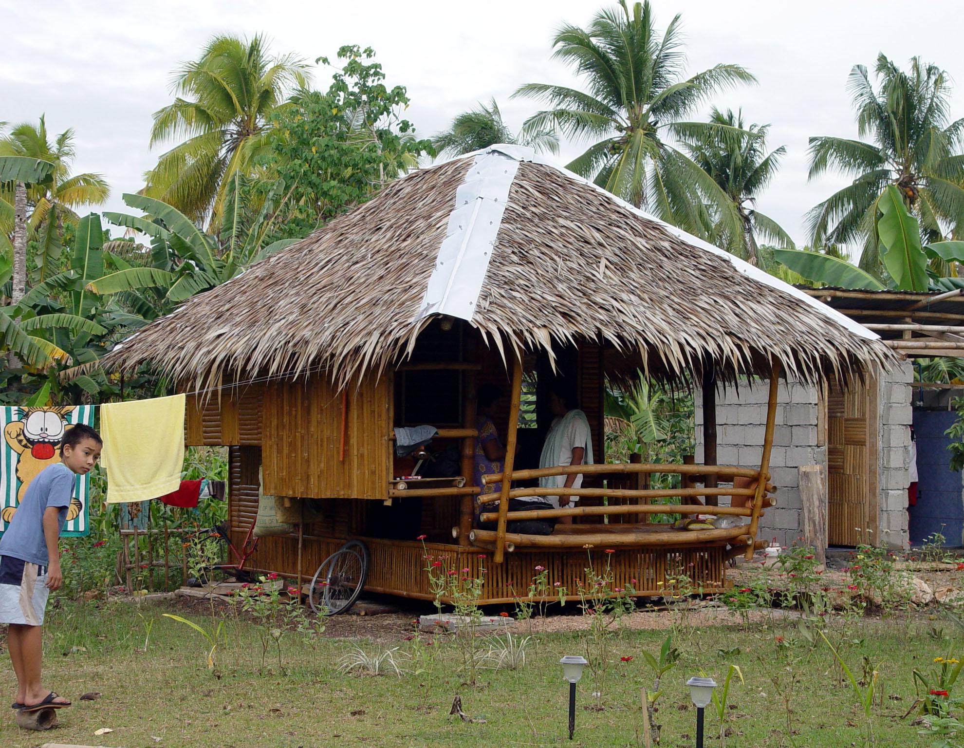 Modern nipa hut design bahay kubo joy studio design for Modern bamboo house plans