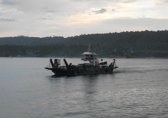 The smallest of the vehicle ferry fleet serving Samal from Davao