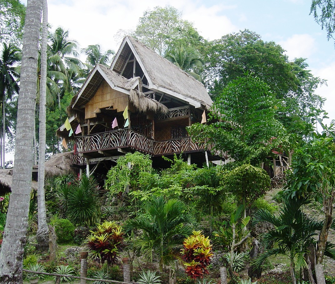as spectacular a bahay kubo as you could wish to find at the entrance