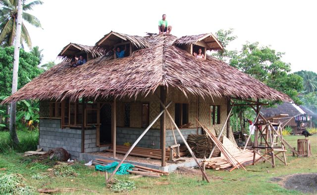 Work progressed well on the latest bahay kubo by the end of the month ...