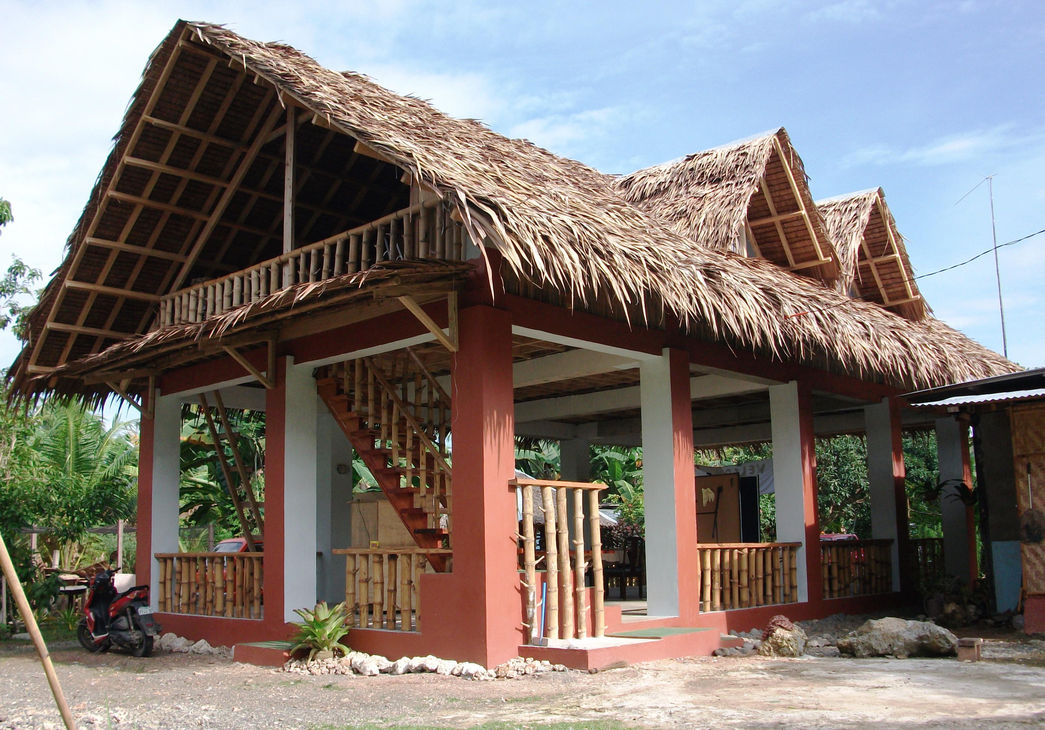The spice hut bahay kubo restaurant samal samal bahay for Simple modern native house