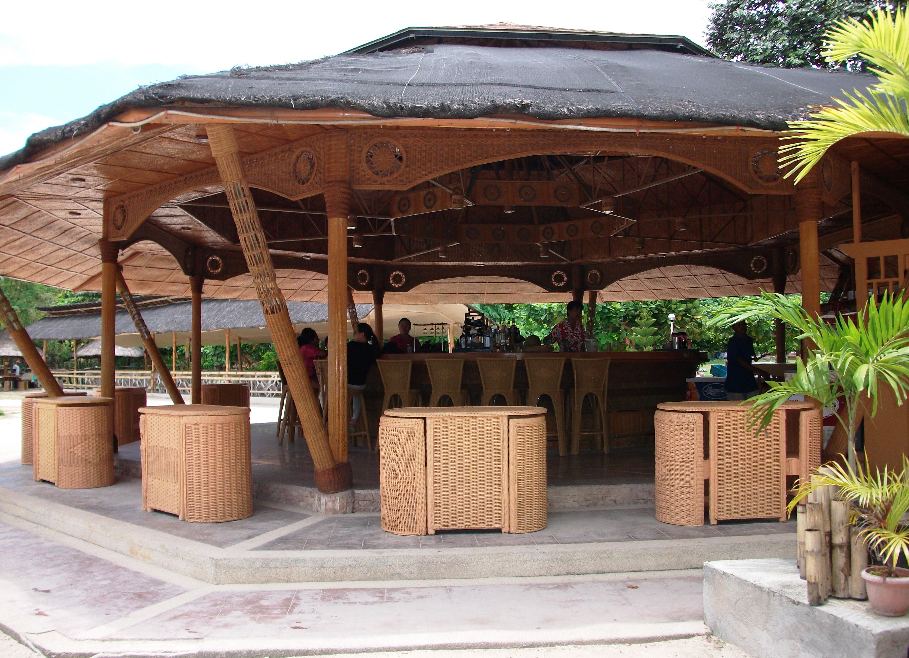 Bahay kubo style restaurants samal bahay kubo for Beach rest house design