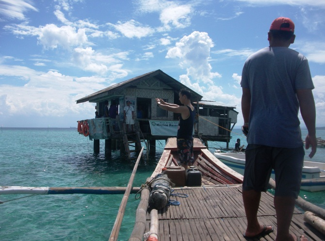 The boat trip to the study centre