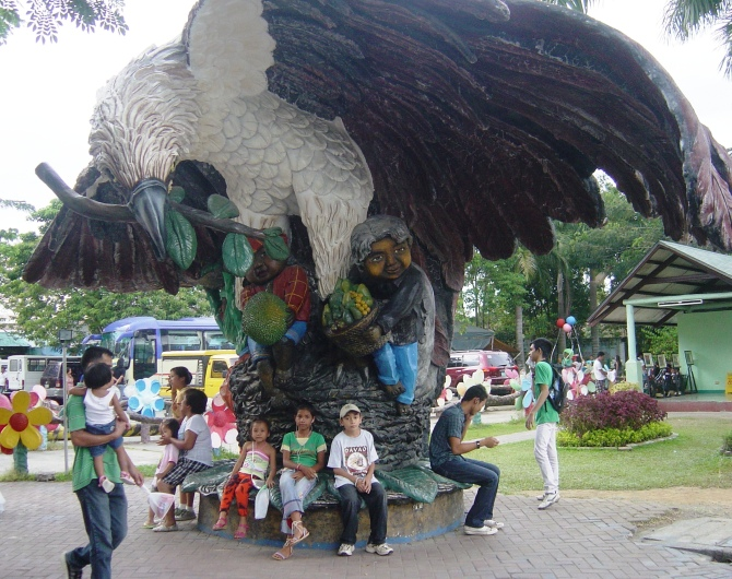 The Philippine Monkey-eating Eagle (a statue, they're not quite as big as this one)